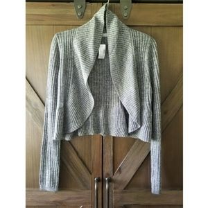 Maurices grey cropped cardigan